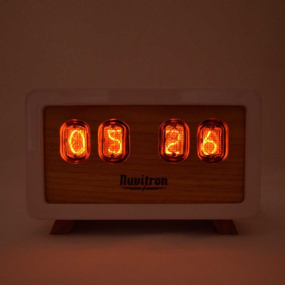 White Retro Nixie Clock - 30 Hours of Precise Workmanship 1