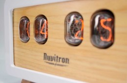 White Retro Nixie Clock - 30 Hours of Precise Workmanship top